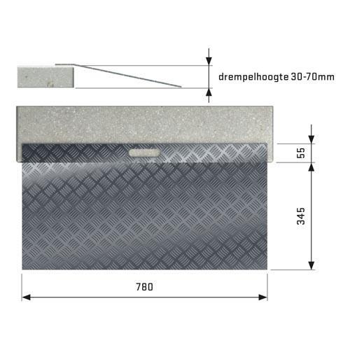 Drempelhulp Aluminium type 2.