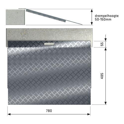 Drempelhulp Aluminium type 3.
